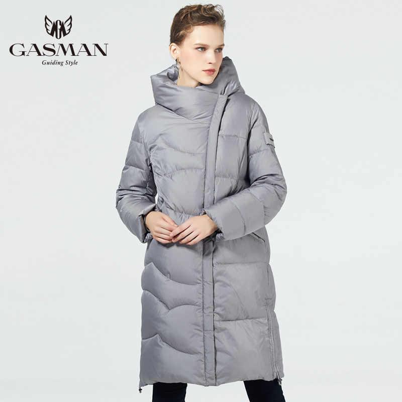 GASMAN 2019 femmes hiver manteau longue grande taille mode Parka à capuche chaud vestes femme hiver vêtements vêtement d'extérieur pour femmes grande taille