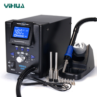 YIHUA 8509 Micro Hot Air Gun Soldering Station with 3.5/3/2.5/2 mm Nozzle Temperture Adjustable BGA Rework Station