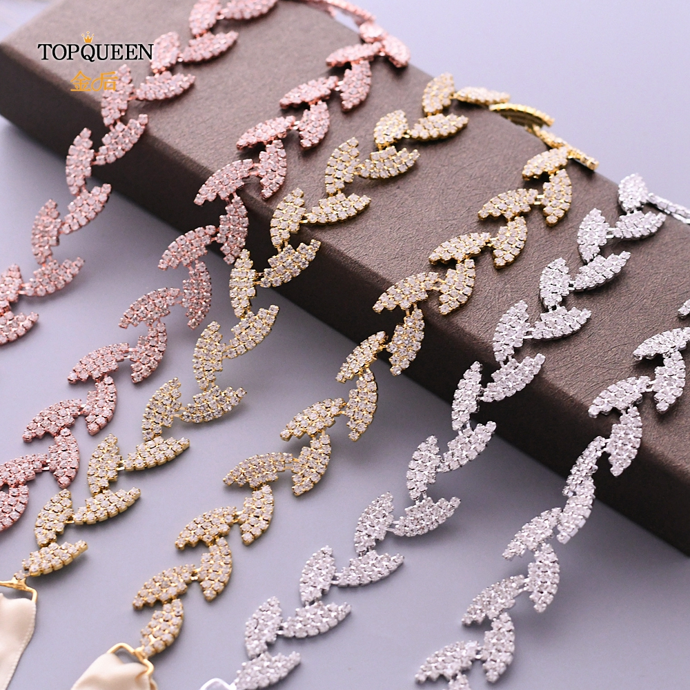 TOPQUEEN S198 Wedding Belt For Bride Bridal Sash Silver Gold Rose Gold Dress Accessories Bride Waistband Wedding Sashes