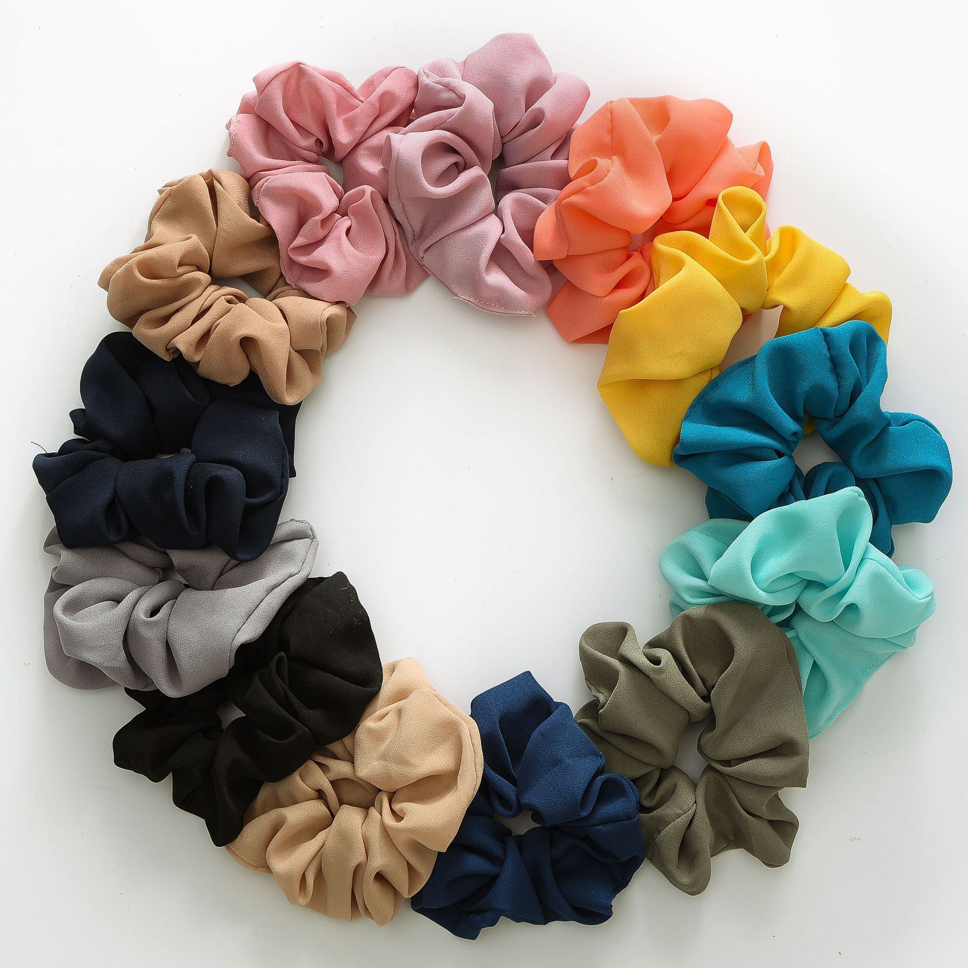 1/5/6pcs/set Women Hair Accessories Scrunchies  Elastic Hair Bands Hair Ties