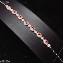 KJJEAXCMY fine jewelry 925 sterling silver inlaid natural pink sapphire bracelet classic female bracelet support testing luxurious natural sri lanka sapphire bracelet 2 ct natural blue sapphire gemstone bracelet solid 925 sterling silver bracelet