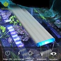 Супер тонкий светодиодный светильник для аквариума, светильник для водных растений 18-75 см, расширяемый водонепроницаемый светильник с зажи...