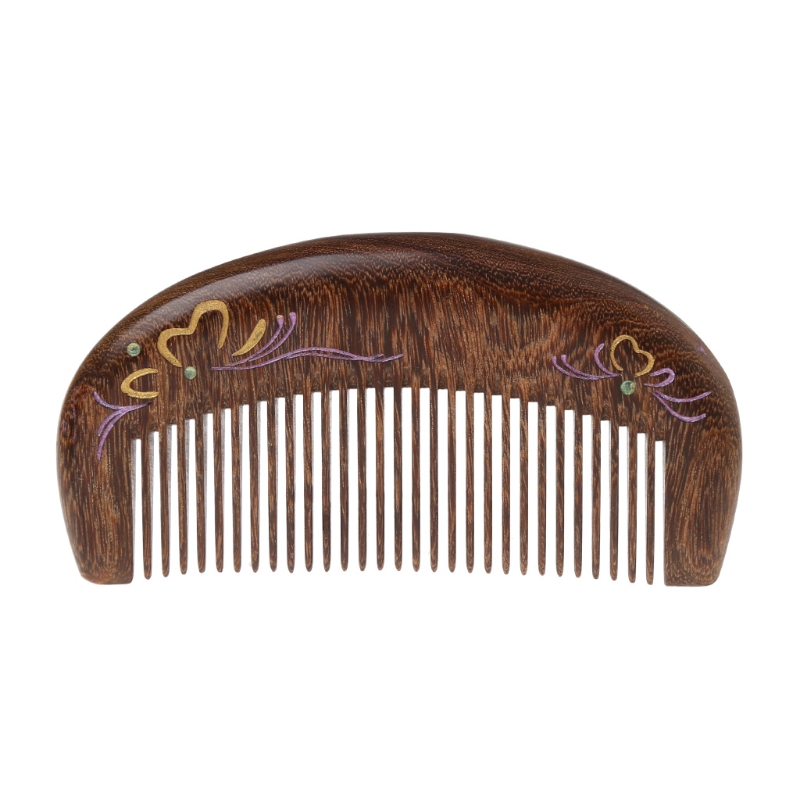 pente de cuidados com o cabelo antiestatico artesanal de madeira natural esculpida sandalo pentes