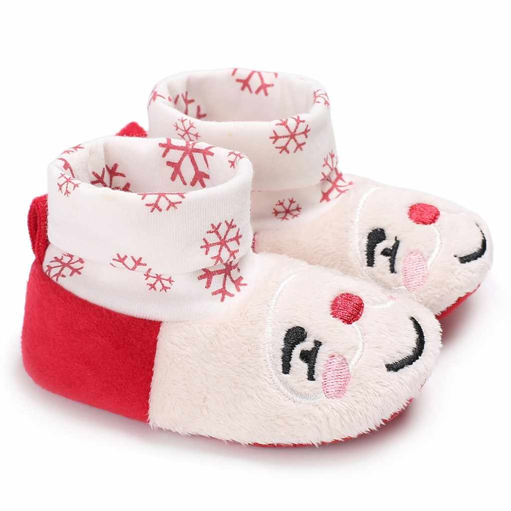 Christmas Toddler Kid Baby Girls Boy Flock Winter Warm Snow Boots Bootie Shoes Mixed Color soft cotton baby short boots