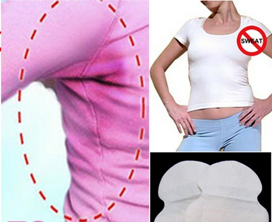 2pcs/bag,Hot Sell Disposable Clothing Underarm Shieds Sweat Absorbent Pad As Anti Perspiration Armpit Mat AS SEEN ON TV Product.
