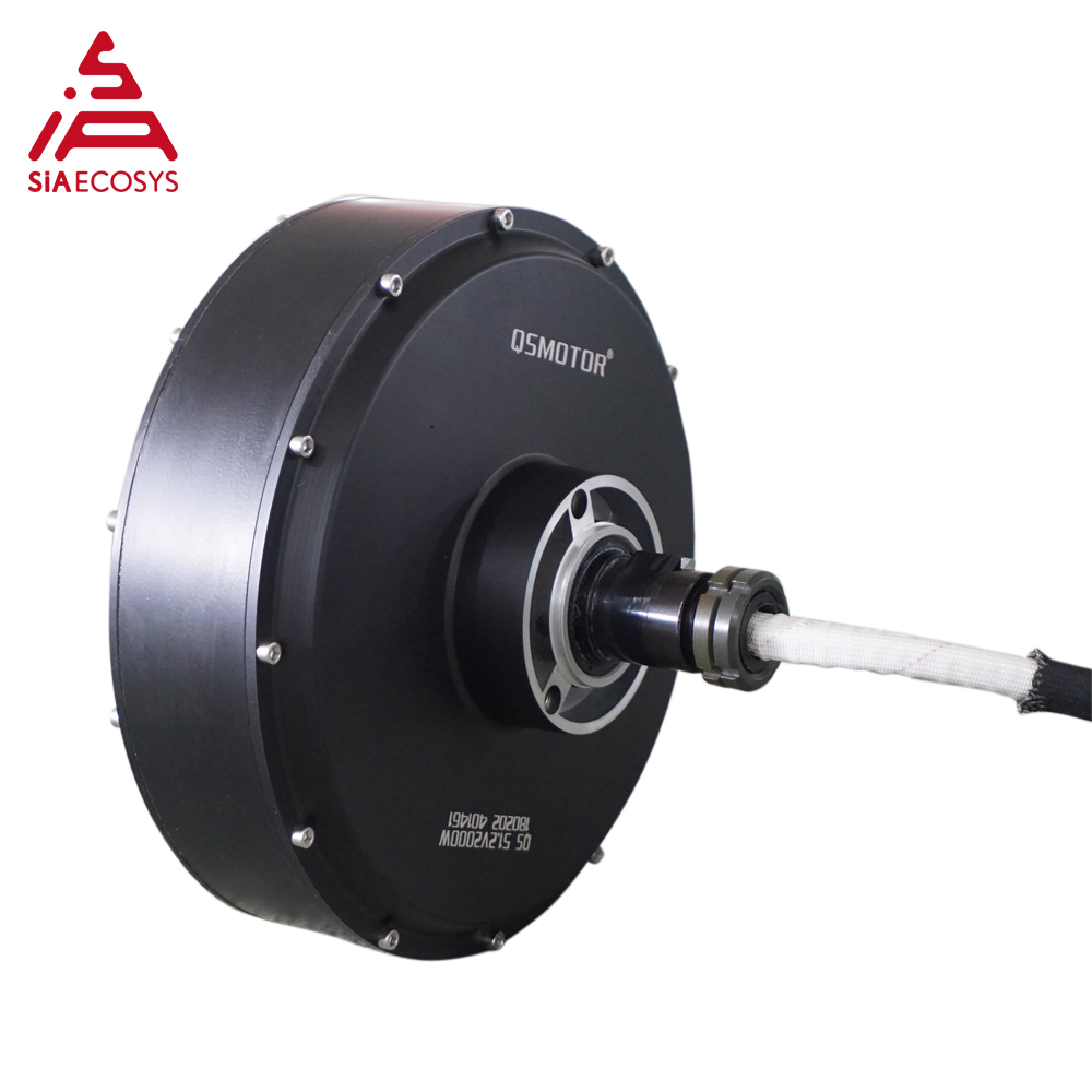 QS Motor 5000W 260 V4 high effctive 12inch detachable in wheel hub motor for electric car and ATV car image