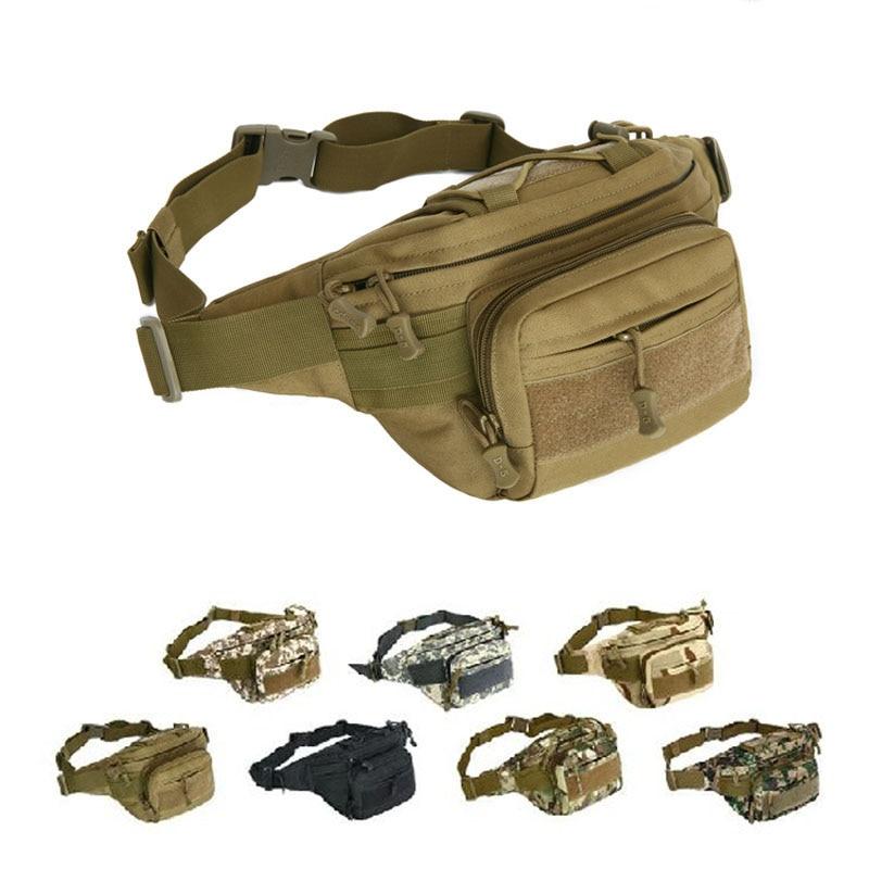 Men Tactical Sports Bag 1000D Nylon Travel Riding Motorcycle Hip Bum Belt Fanny Pack Waterproof Hiking Fishing Hunting Waist Bag