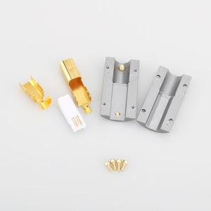 Image 4 - Виборг UB201, высококлассный позолоченный USB 2.0 24K штекер USB B, DIY HI Fi USB кабель, позолоченный бронзовый USB кабель