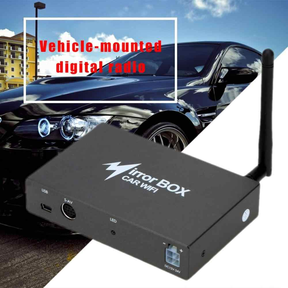 Car WIFI Mirror Box for Android iOS Mobile Phone Navigation to LCD Monitors  Universal A/V Mirror Converter 2 4G