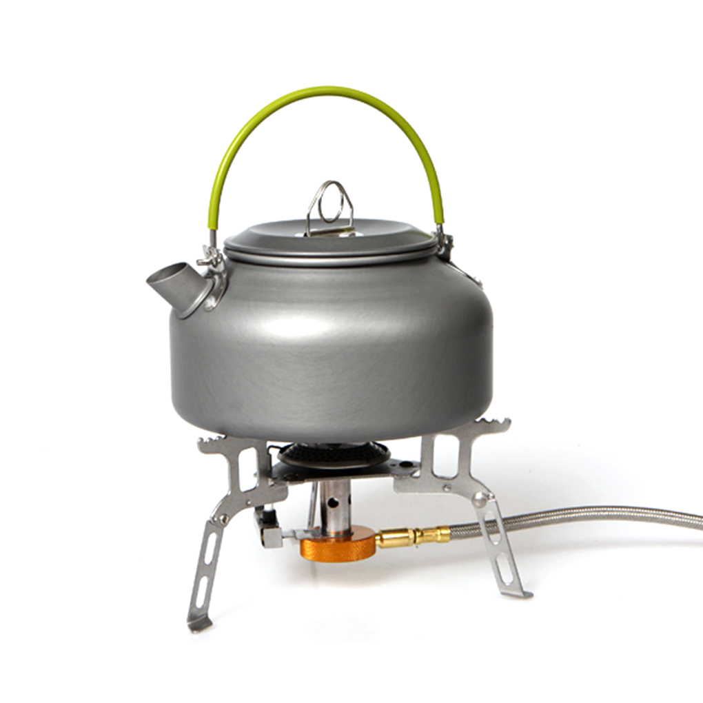 Portable Outdoor Coffee Teapot Camping Hiking Picnic Barbecue Kettle Water Pot Aluminum Alloy 0.8L