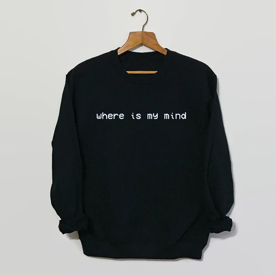 Sweatshirt Grunge 90s Grunge Jumper Casual Tops High Quality Jumper Pullovers Where Is My Mind Pixies