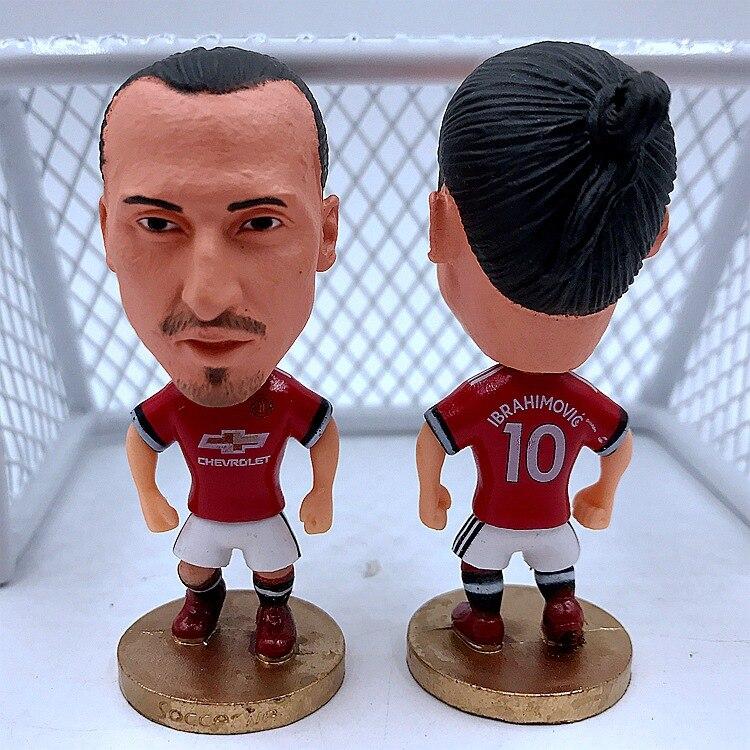 Football Fan Doll Figurine Decoration Ibrahimovic Borg Bud Gea Mourinho Doll Collection