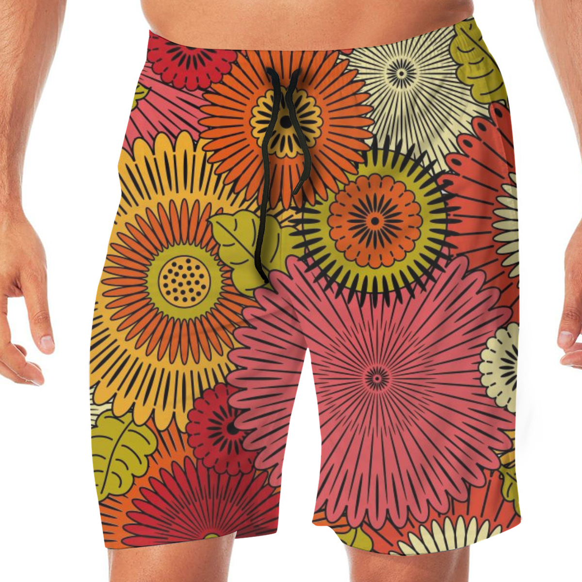 Ethnic Japanese Typical Pattern Swimming Shorts For Men Swimwear Man Swimsuit Swim Trunks Summer Bathing Beach Wear
