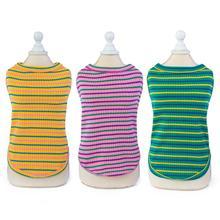T-Shirt Pet-Puppy Vest Dog Striped Cotton Summer Cat Soft 5-Sizes 5-Colours Pajamas Knited