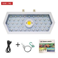 ICOCO Plants LED Grow Light Full Spectrum 1000W Double Chip Red/Blue/UV/IR Long Hexagonal Light For Indoor Plants VEG BLOOM