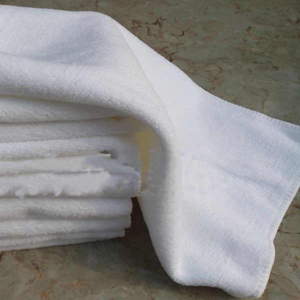 لينة ستوكات نسيج الوجه المحمولة تيري منشفة حمام الفندق مناشف اليد P0.11 30*60 سم الأبيض