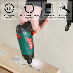 Image 5 - LANNERET 3.6V Cordless Electric Screwdriver Lithium Ion Household Multifunction Drill/Driver Power Gun Tools LED Light