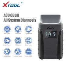 Xtool anyscan a30 obd2 ferramentas de diagnóstico do carro com andriods/ios código do carro lê sistemas completos diagnóstico multi marca carro atualização gratuita