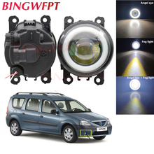 2x Car Accessories LED Fog Light Angel Eye with Glass len For Dacia Logan MCV 2007-2009 For Renault Megane 2 Saloon LM 2003~2015