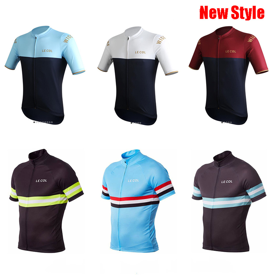 Le Col cycling jersey men short sleeve bike clothes breathable quick dry roadbike apparel ropa ciclismo tops cycling clothing in Cycling Sets from Sports Entertainment