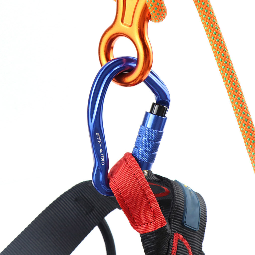 Carabiner Clip Climbing Auto Locking Carabiners Clips Lock And Heavy Duty D Shaped Suit For Rappelling