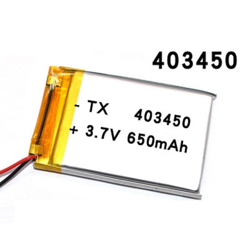 Полимерная литиевая аккумуляторная батарея 650mAh литий-ионная Lipo батарея 3,7 V 403450 043450 для смартфона DVD mp3 mp4 Светодиодная лампа камера