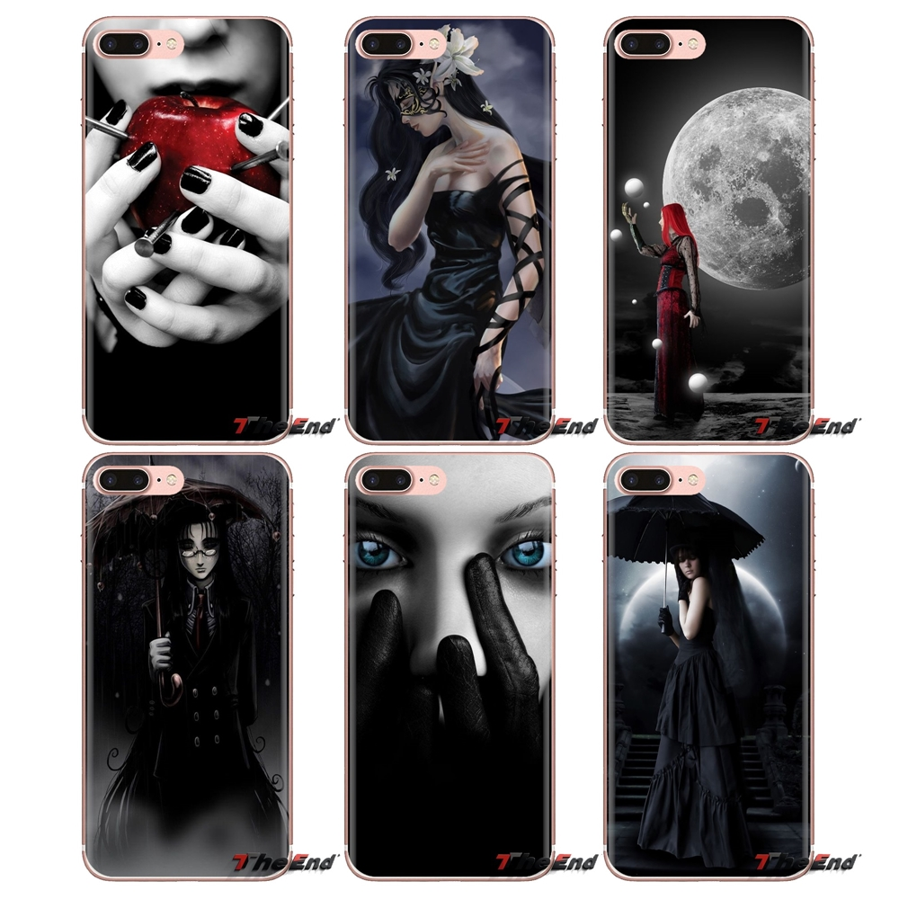 For Samsung Galaxy J1 J2 J3 J4 J5 J6 J7 J8 Plus 2018 Prime 2015 2016 2017 Dark Gothic Wallpaper Transparent Soft Cases Covers Fitted Cases Aliexpress