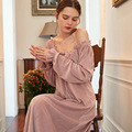 Зимняя ночная рубашка, женская ночная одежда, одежда для сна, женское платье, ночная рубашка в простом стиле, одежда для сна