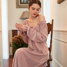 Winter Nightgown Women Night Wear Sleep Wear Women Dress Simple style Nightgown Sleepwear