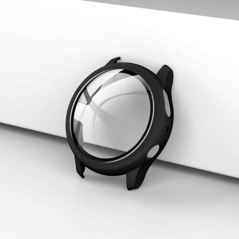 جديد الحال بالنسبة لسامسونج غالاكسي ساعة النشطة 2 44 مللي متر 40 مللي متر البلاستيك الوفير الصلب إطار الحال مع فيلم الزجاج ل غالاكسي ساعة نشط 44
