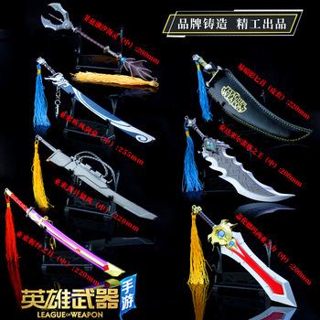 Zabawki miecz League Of Legends broń zabawki 22 Cm broń Model Daquan Garen duży miecz ze stopu modelu tanie i dobre opinie Metal CN (pochodzenie) 12-15 lat BOYS Kategoria miecz broń alloy kirsite Weapon