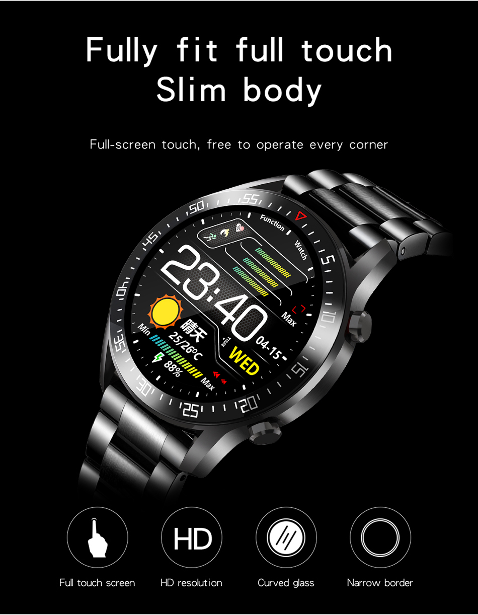 H66c7f588d90e4115a2a962d210c2372d7 LIGE New Smart watch Men Full touch Screen Sports Fitness watch IP68 waterproof Bluetooth Suitable For Android ios Smart watch