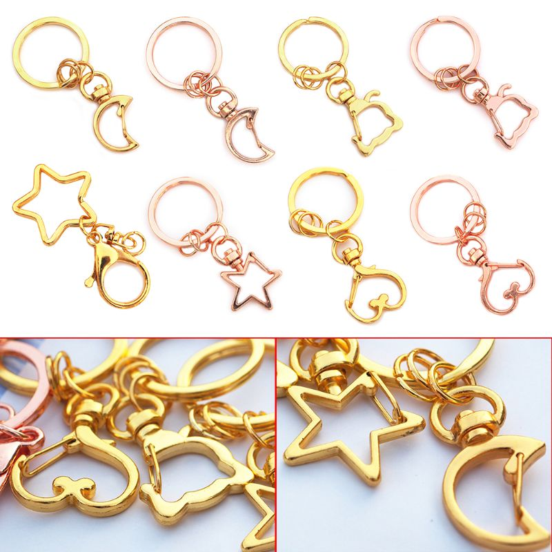 5 Pcs High Quality Key Chains Jewelry Making DIY Accessories Parts Bag Charms Car Keyring Key-chain Trinket