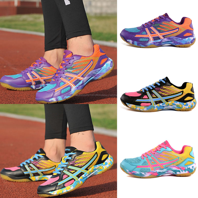 Anti-Slippery Tennis Shoes Anti-slipper Mens Womens Outdoor Sports Badminton Tennis Sneakers Breathable Training Athletic Shoes