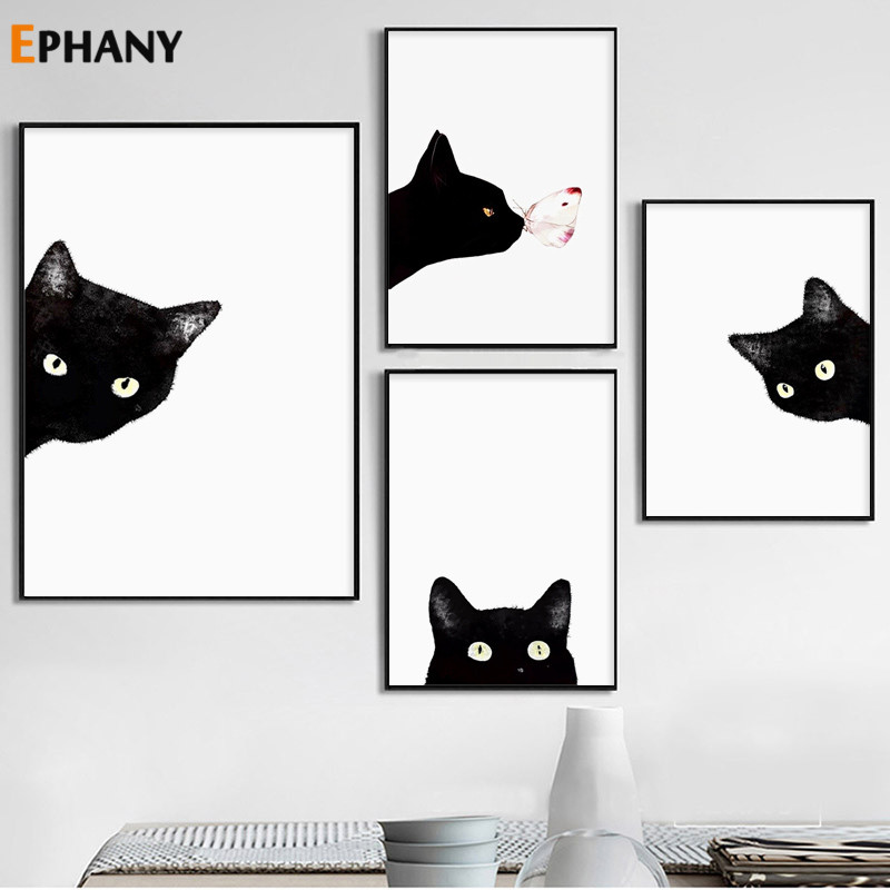 Kaboo Cat Wall Art Canvas Posters