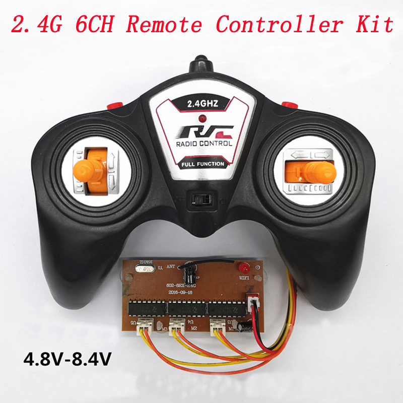 1Set Toy Car Model DIY Accessories 6CH 2.4G Remote Controller Kit 100m Control Distance 3V Transmitter+3.6-8.4V Receiver Board
