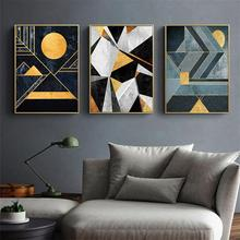 Luxury Geometric Pattern Canvas Wall Art Print Nordic Poster Abstract Painting Decorative Picture Modern Living Room Decoration