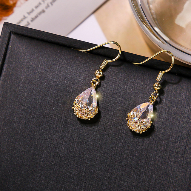 2020 Metal Classic Water Drop Earrings Women Dangle Earrings Korean Fashion Circle Geometric Earrings Sweet Small.jpg 640x640 - 2020 Metal Classic Water Drop Earrings Women Dangle Earrings Korean Fashion Circle Geometric Earrings Sweet Small Jewelry