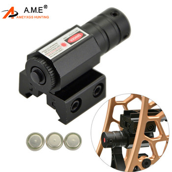 цена на 1PC Archery Tactical Red Laser Dot Sight Scope Picatinny Rail Mount 20mm Rifle Pistol Black Outdoor Shooting Hunting Accessories
