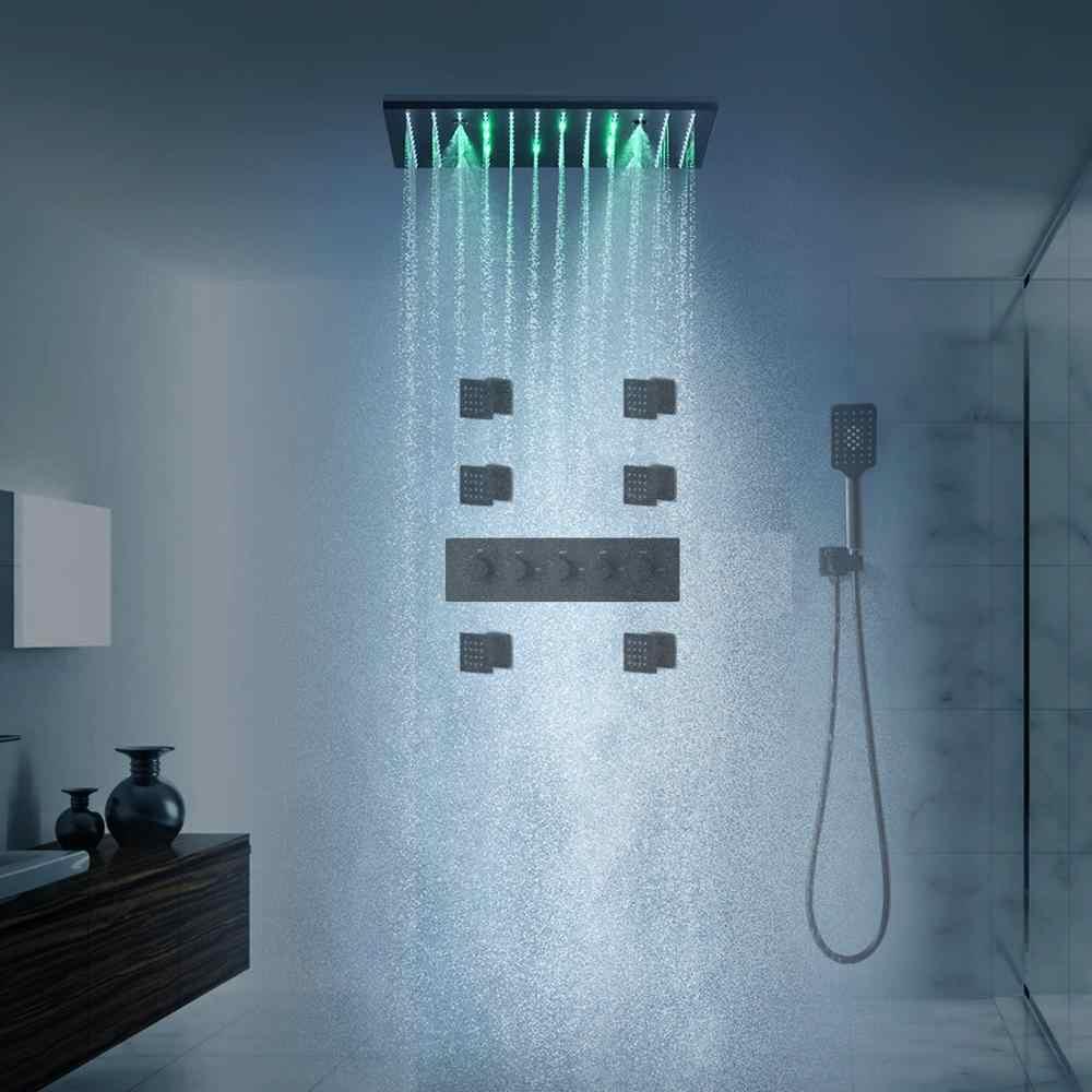 Bijjaladeva Antique ba/ño ducha mezcladora de lluvia toca ducha de lluvia faucet system/Levante las llaves de lat/ón negro Kit de ducha retro 古 negro Kit de ducha de ba/ño ducha grifo