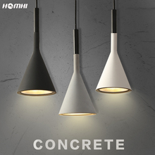 Concrete Pendant Lights Lamparas De Techo Colgante Moderna Kitchen Decor Industrial Nordic Style Lamp for Bedroom Rope Light
