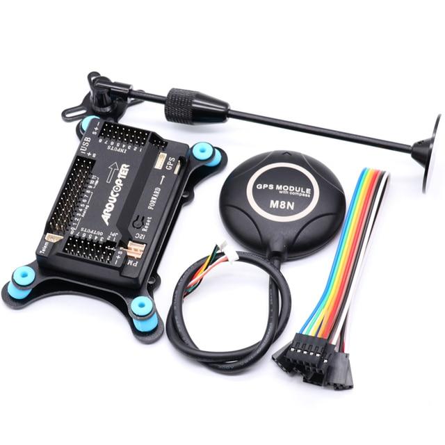 Contrôleur de vol APM2.8 APM 2.8, Ardupilot + GPS M8N intégré + support gps + amortisseur pour Multicopter RC quadrirotor