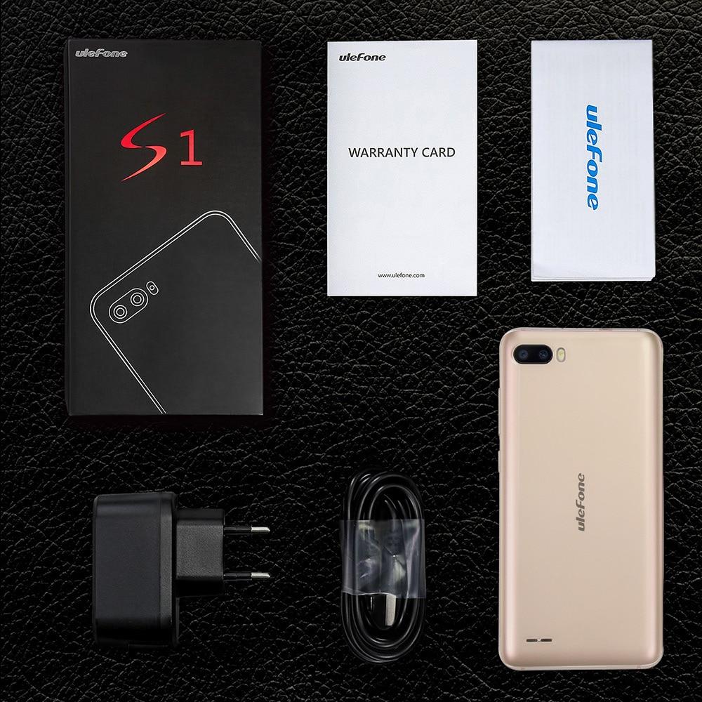 Ulefone S1 Мобильный телефон Android 8,1 5,5 дюймов 18:9 MTK6580 четырехъядерный 1 ГБ ОЗУ 8 Гб ПЗУ 8МП + 5Мп задняя двойная камера 3g смартфон - 6