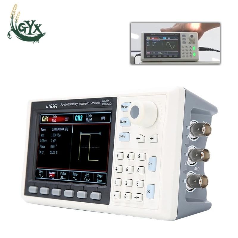 UTG932 UTG962 Функция генератор сигналов произвольной формы сигнала источник двухканальный 200 мс/с 14 бит Частотный измеритель 30 МГц 60 МГц