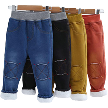 Pants Jeans Denim Thicken Baby-Boys Winter Children High-Quality Casual New Straight
