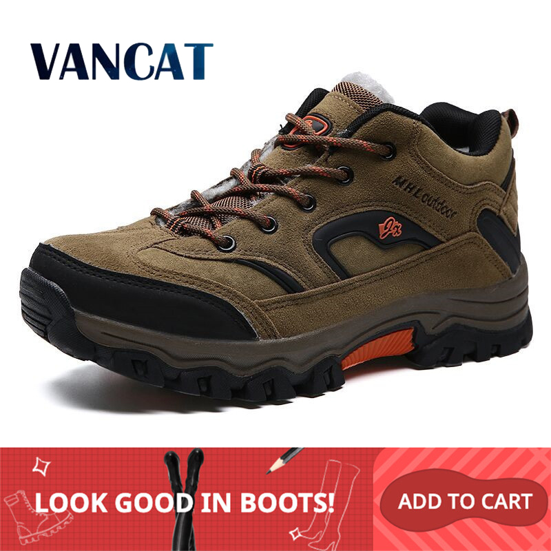VANCAT Brand Winter Shoes Men Big Size 36-47 Super Warm Men's Boots Sneakers Ankle Warm Plush Snow Boots For Man Footwear