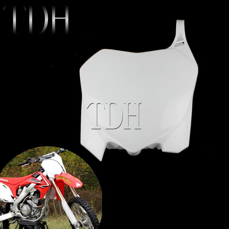 PP <font><b>Plastic</b></font> Racing Enduro Front Number Plate Dirt Bike Off-Road Front Number Board for Honda CRF450R CRF250R <font><b>CRF</b></font> <font><b>450</b></font> 250 R 09-13 image