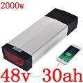 48В батарея 48В 30ач литиевая 48В 30ач батарея для электрического велосипеда 48В 1000 Вт 1500 Вт 2000 Вт Батарея для электрического велосипеда LG/panasonic cell
