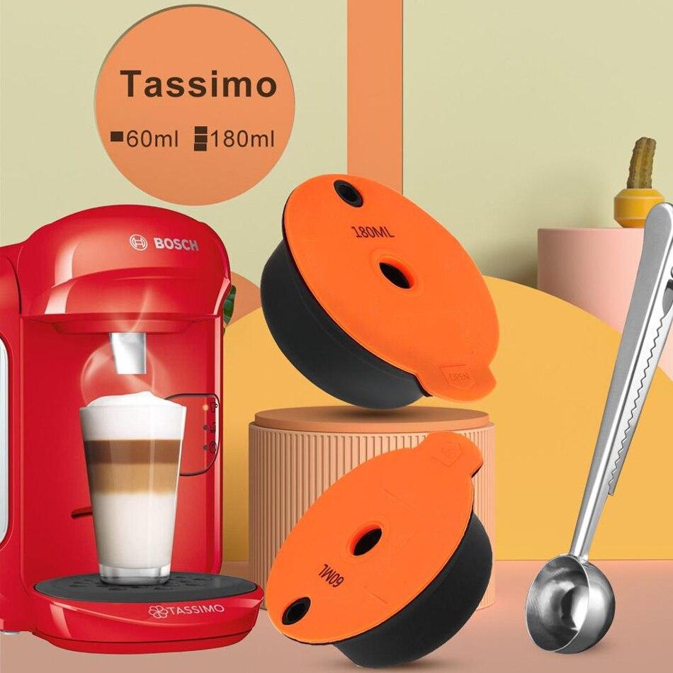 Многоразовый фильтр для капсул кофе Crema Tassim-o для кофемашины Bos ch с электрической кофейной ложкой