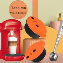 Filtro reutilizável da cápsula do café de crema tasim-o para a máquina de café de bos ch com colher de café elétrica